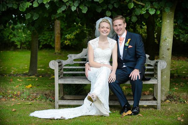 Couple On a Bench - Dove Barn Wedding Venue