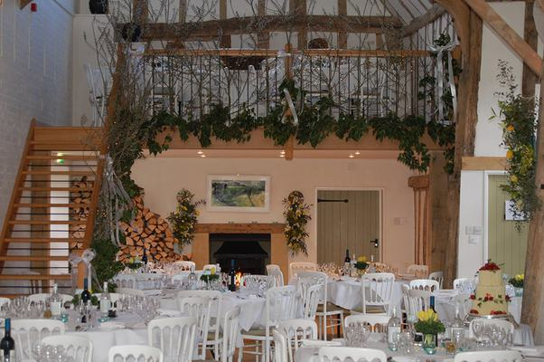 Warm Hearth In The Hall - Dove Barn Wedding Venue