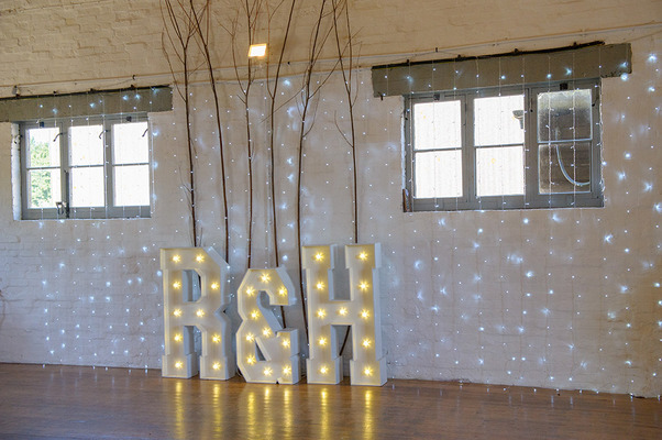 R & H light up letters